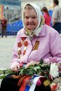 Victory Day in Russia. The veteran on the street. Royalty Free Stock Photo
