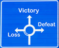 Victory or loss Stock Images