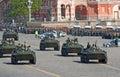 Victory parade rehearsal: BTR-80 APCs Stock Images