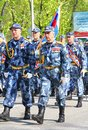 Victory parade yekaterinburg russia may soldiers of federal landdrost service takes part at the annual day on may in yekaterinburg Stock Photos