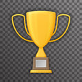 Victory Prize Award Realistic 3d Symbol Transparent Background Trophy Cup Icon Template Mock up Design Vector