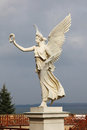 Victory statue of an angel holding a laurel crown at schwerin castle in schwerin mecklenburg vorpommern germany Stock Images