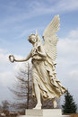 Victory statue of an angel holding a laurel crown at schwerin castle in schwerin mecklenburg vorpommern germany this statue was Royalty Free Stock Photography