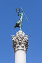 Victory statue in union square san francisco california the with a blue sky Stock Photos
