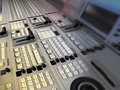 Mixer broadcast video and audio Royalty Free Stock Photo