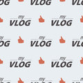Video blog seamless pattern on a light background