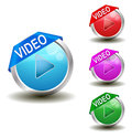 Video Button Royalty Free Stock Images