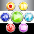 Video buttons collection for your design Stock Image