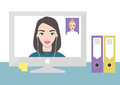 Video call flat illustration. Technology