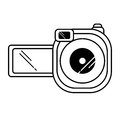 Video camera device isolated icon