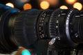 Video camera lens Royalty Free Stock Photo