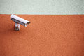 Video camera security system on the wall of the building Royalty Free Stock Image