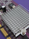 Video card heat sink  Royalty Free Stock Photos