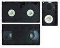Video cassette vhs isolated on white background Stock Photo
