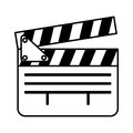 Video clapperboard isolated icon