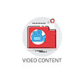 Video Content Visual Multimedia Icon Royalty Free Stock Photo