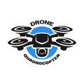 Video drone quadrocopter logo.