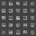 Video editing linear icons