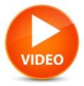 Video elegant orange round button