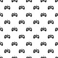 Video game console controller pattern vector