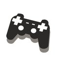 Video game controller gamepad. Flat icon for apps and websites