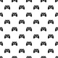 Video game controller pattern, simple style