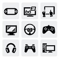 Video game icons set Royalty Free Stock Images