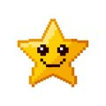 Video game star pixelated