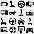 Video game vector icon set on gray icons isolated grey background eps file available Stock Image