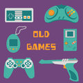 Video games icons Royalty Free Stock Photo