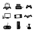Video games icons over white background vector illustration Royalty Free Stock Image