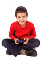 Video games little boy playing Stock Image