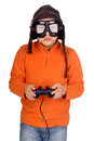 Video games little boy playing Stock Images