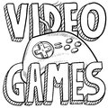 Video games sketch Royalty Free Stock Photography