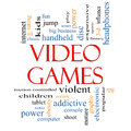 Video Games Word Cloud Concept Royalty Free Stock Images