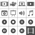 Video icon set