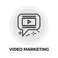 Video Marketing Line Icon