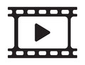 Video play icon Royalty Free Stock Photo