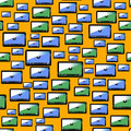 Video Player Seamless Pattern