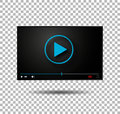 Video player vector  play button modern player Royalty Free Stock Photo
