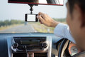Video recorder driving a car Royalty Free Stock Photo