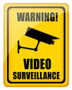 Video surveillance sign Royalty Free Stock Image