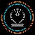 Video web cam - chat camera icon, vector webcam