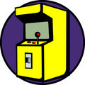Videogame arcade machine vector illustration Royalty Free Stock Image