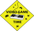 Videogame time sign Stock Image