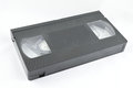 Videotape on a white background for recording and reproducing visual images and sound Royalty Free Stock Image