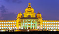 Vidhana soudha the state legislature building in bangalore india Stock Photos