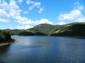 Vidra lake a beautiful near the transalpina road romania Royalty Free Stock Photography