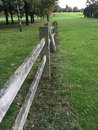 Vieille frontière de sécurité en bois Photo libre de droits