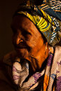 Vieille grand maman africaine Images libres de droits